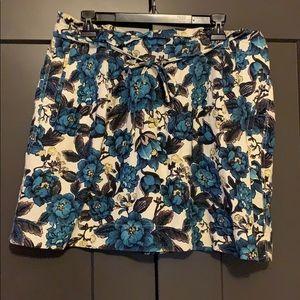 LOFT Floral Paper Bag Skirt